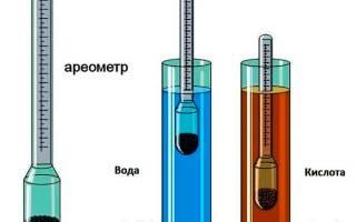 Как замерить плотность электролита в аккумуляторе