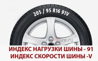 Что такое индекс нагрузки на шинах