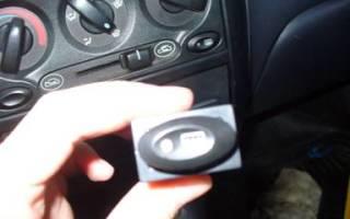 Как снять кнопку обогрева заднего стекла