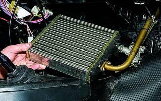 Как поменять радиатор печки на