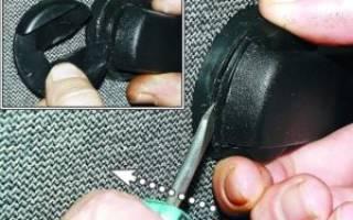 Как снимается ручка стеклоподъемника