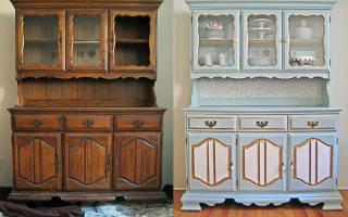 Как покрасить старый шкаф