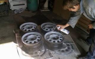 Как покрасить штампованные диски