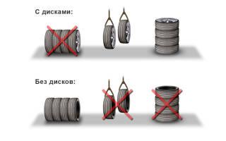 Как хранить резину на дисках