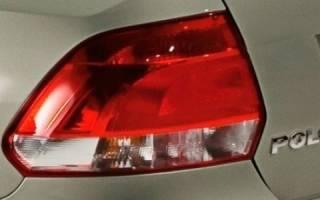 Как снять задний фонарь поло седан