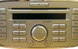 Как ввести код магнитолы форд 6000 cd