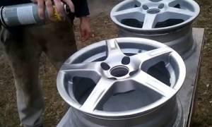 Как покрасить колесные диски