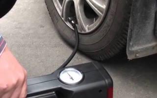 Как пользоваться компрессором для шин